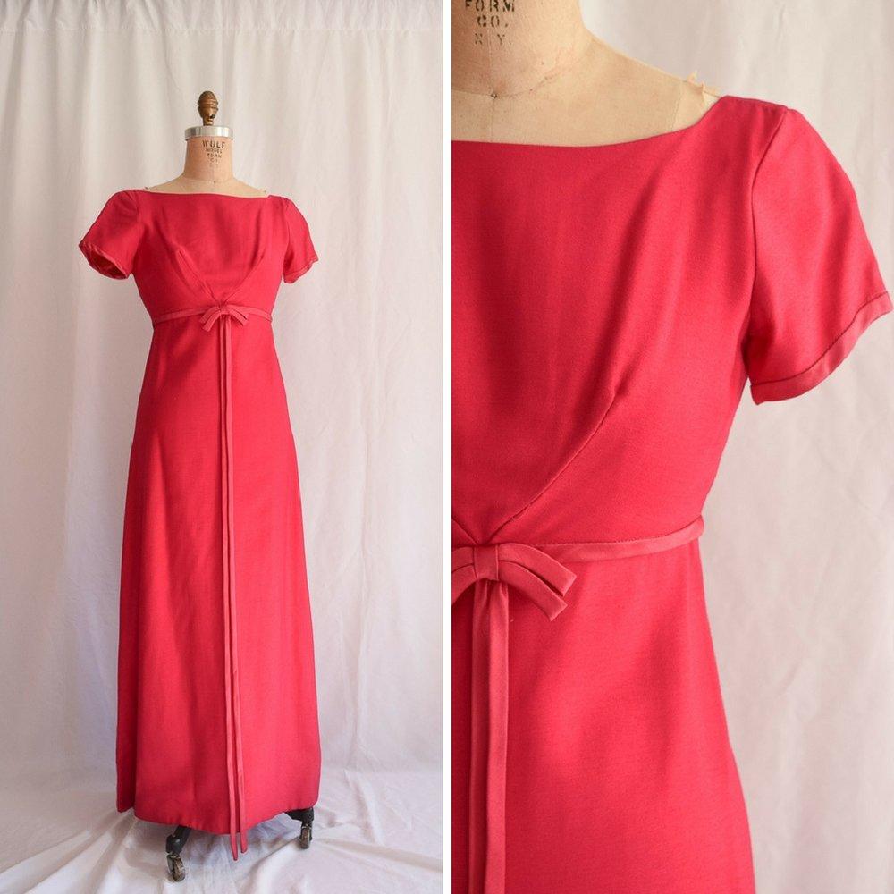 616f898612 Emma Domb. Vintage 1970 s Magenta Maxi Dress. Sz. XS — Bobbins ...