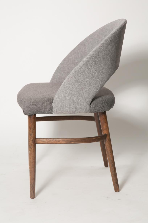 Vintage Frode Holm Rosewood & Gray Vanity chair 4.jpg