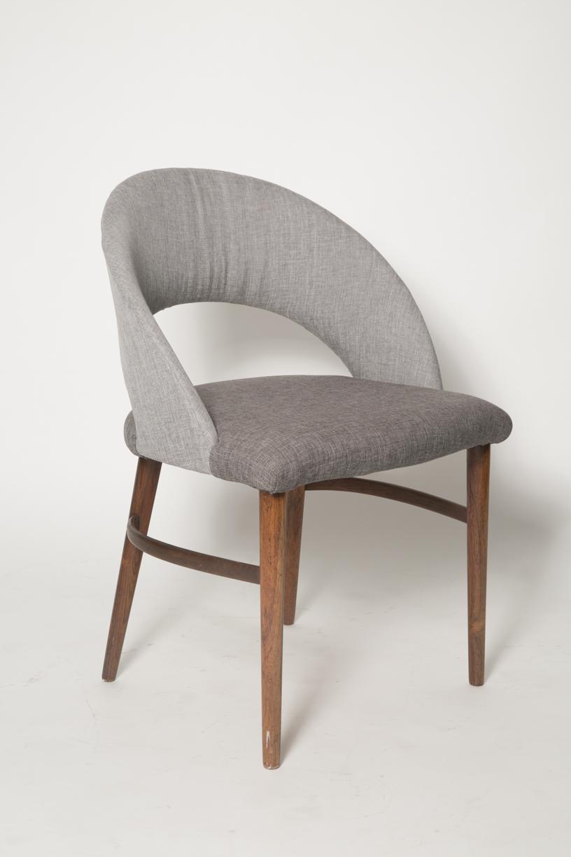 Vintage Frode Holm Rosewood & Gray Vanity chair.jpg