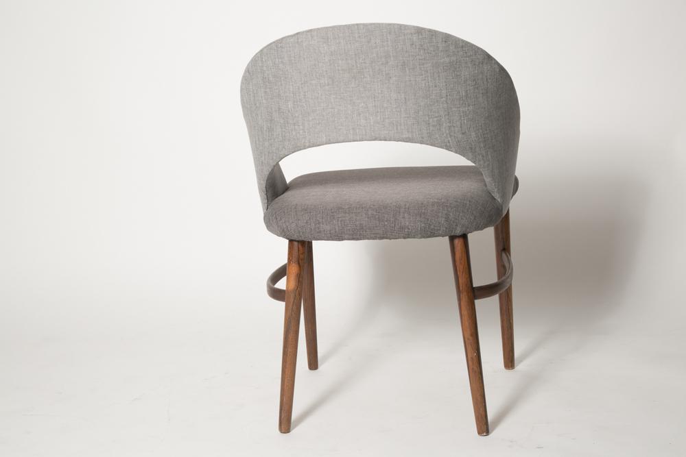 Vintage Frode Holm Rosewood & Gray Vanity chair 7.jpg