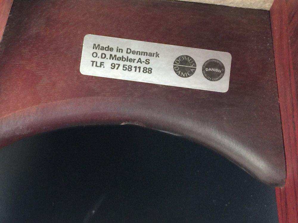 Erik Buck pair of black leather and rosewood bar stools_model 0D61  4.JPG