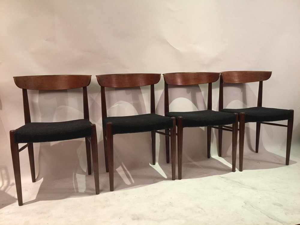 Danish peg joint teak dining chairs