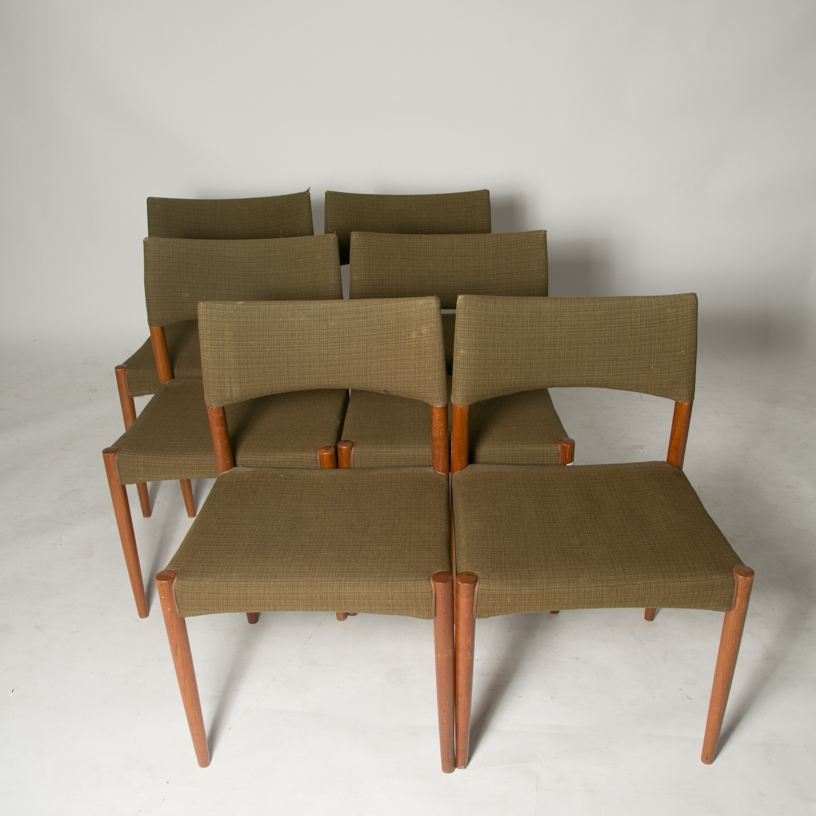 Aksel Madsen Bender Teak dining chairs