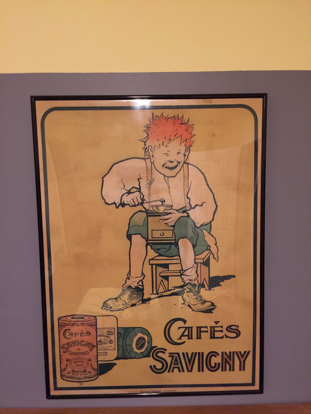 Georges Ripart - 'Cafés Savigny' Chromolithograph