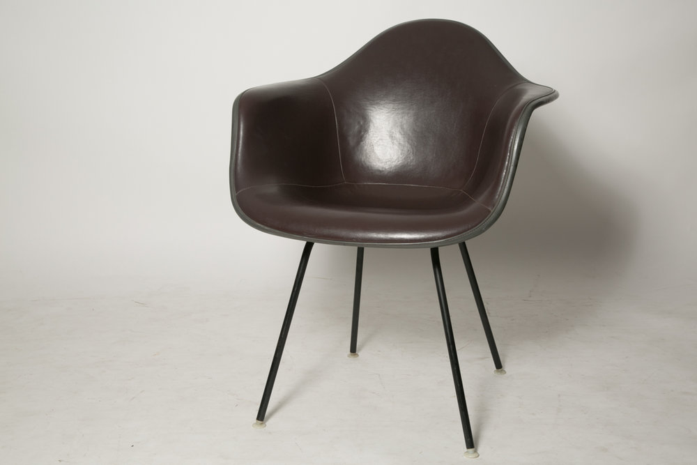 Eames padded shell chair