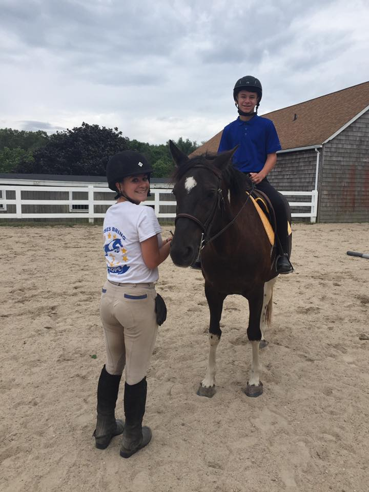 Taylor, zoey and Andrew enjoying a lesson.