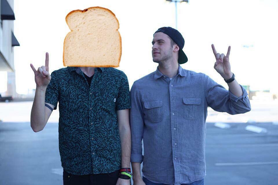 "SIDE NOTE -- anonymous Brett told me he wants to remain a little bit more anonymous, so he is now going to be referred to as ""Bread"" on here. Here is ""Bread"" with our friend and awesome drummer, Skylar."