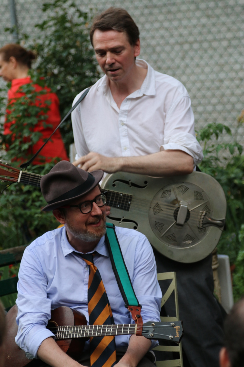 Angus and Carl at Make Music New York, La Guardia Community Garden, June 2015