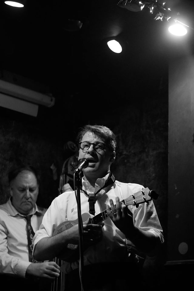"""John Bianchi singing """"Going Back To My Dreams"""" an original tune at Jimmy's, August '16"""