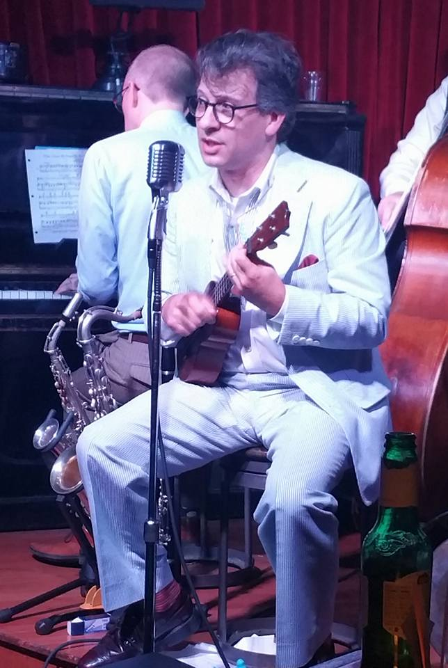 """John Bianchi singing his original composition, """"I'm Going Back to My Dreams"""" 9/17."""