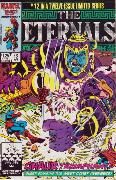Keit Pollard, comic book artist, Eternals cover art.