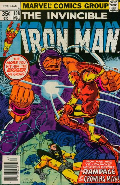 Keith Pollard Iron Man comic book cover art.