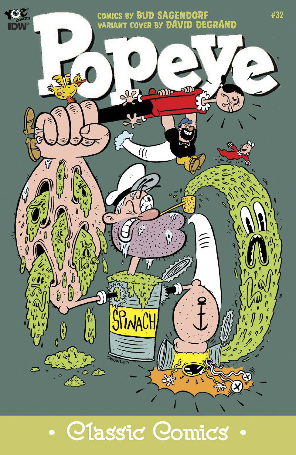 David DeGrand, Popeye cover