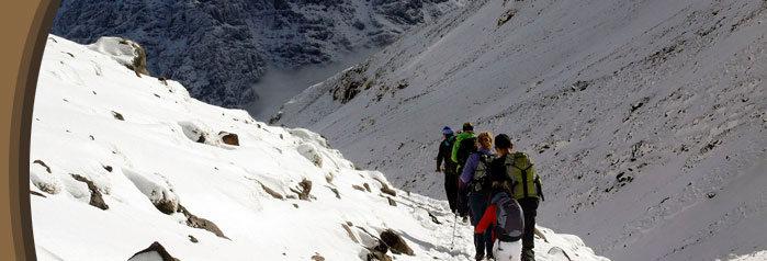Toubkal Mountain, snow capped