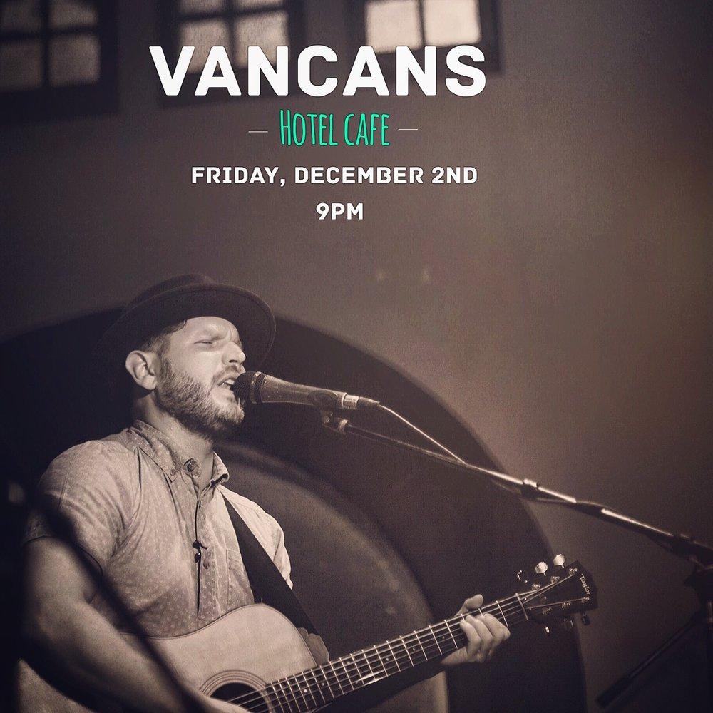 Vancans Hotel Cafe Show Flyer