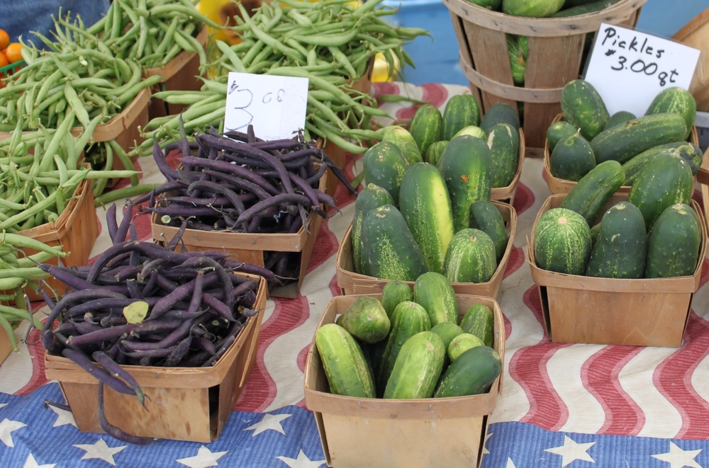 Look for vegetables that are firm and with good color.  The cucumber should feel dense.
