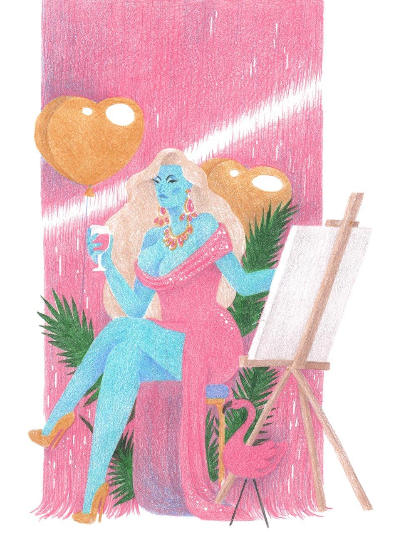 Drag & Draw Poster Illustration, 2018