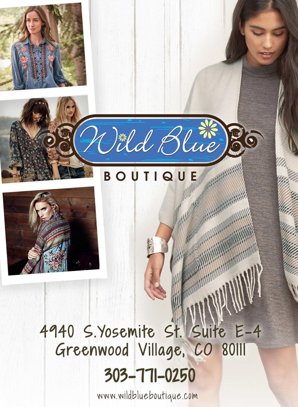 Magazine Ad for Wild Blue Boutique (Denver, CO)