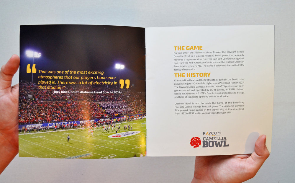 Camellia Bowl | Sales Brochure Design & Layout