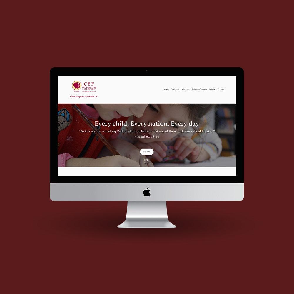 Homepage of site as viewed from desktop