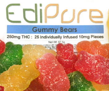EdiPure is a well known brand of cannabis candies