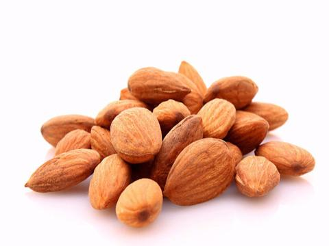 Almonds, Salted: $2.20/100g - California