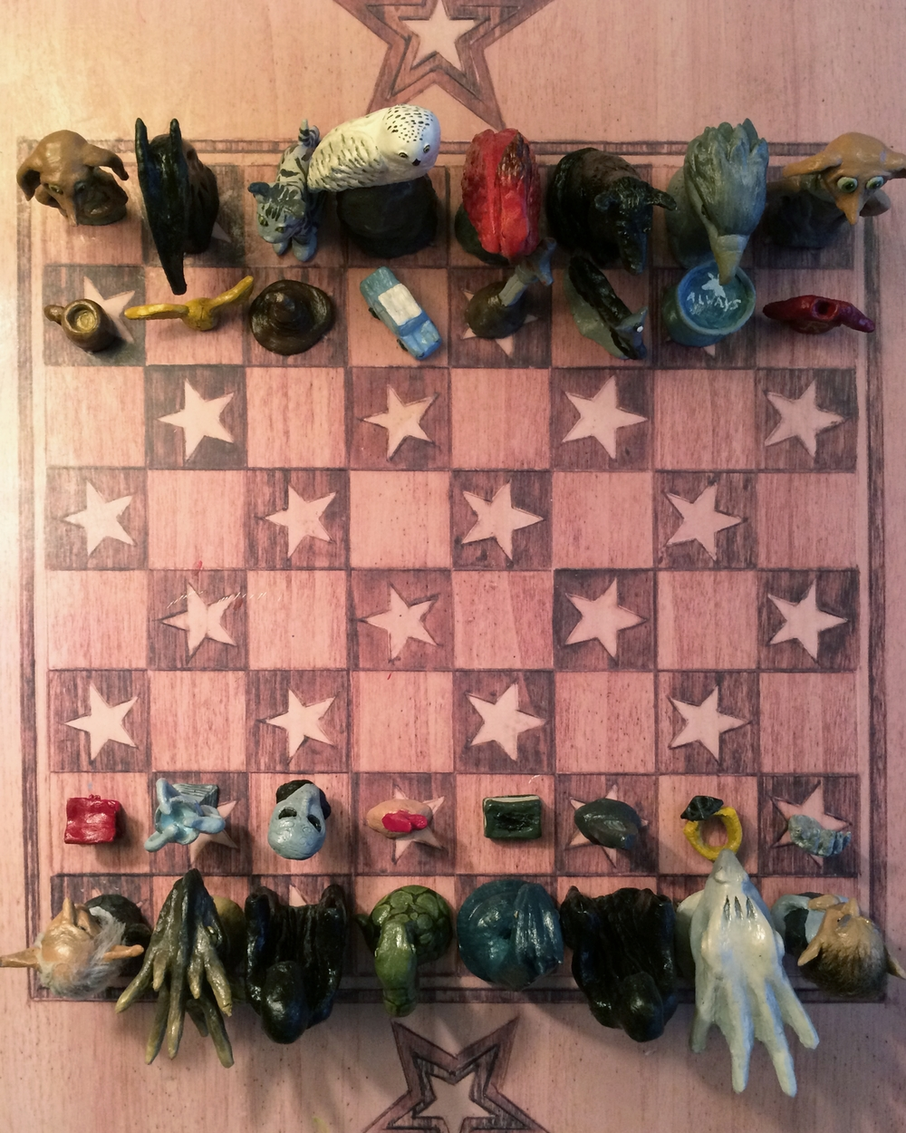 i designed a complete chess set based off nonhuman creatures and beings from the harry potter universe basing my designs of the depictions in the movies
