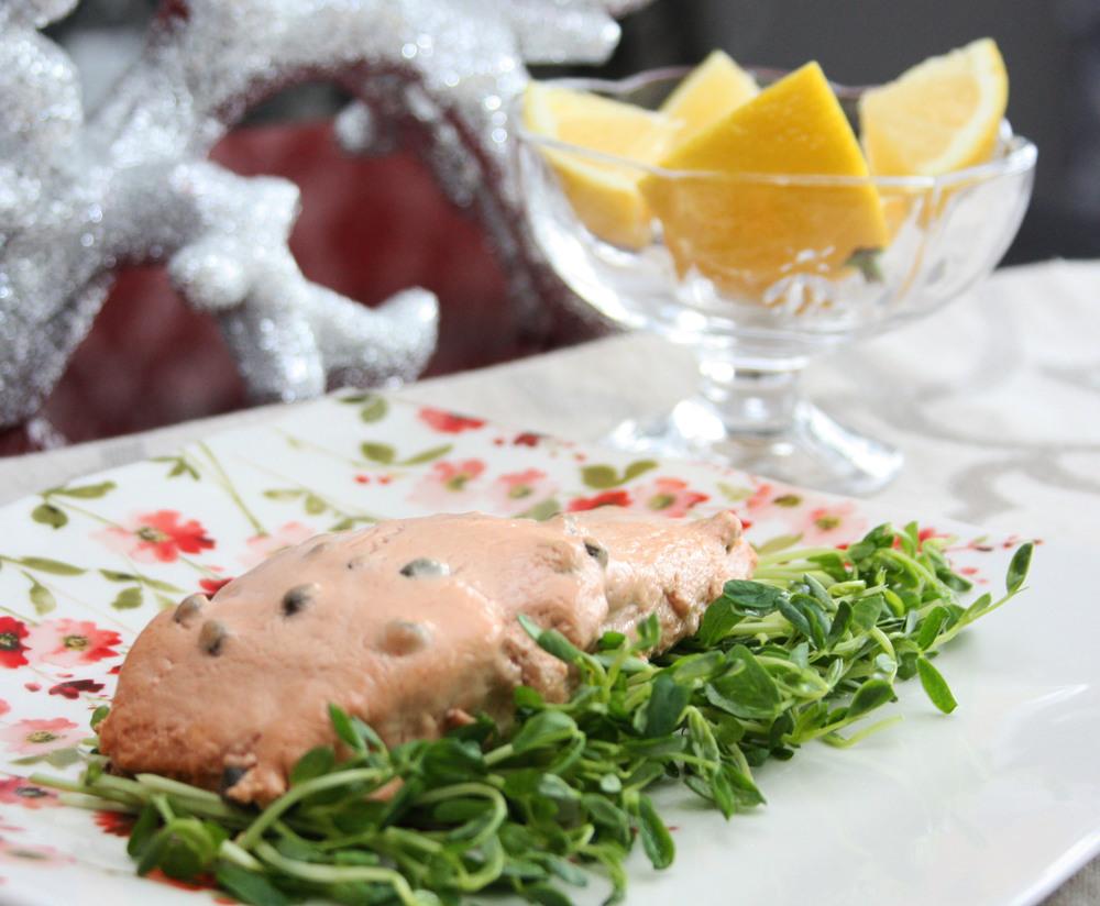 salmon capers yogurt recipe