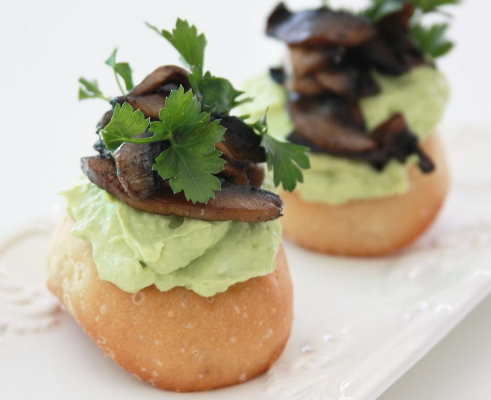 bread avocado spread portabello mushrooms breakfast