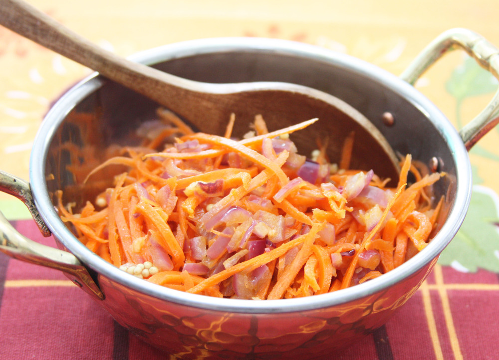 spicy carrot salad onion
