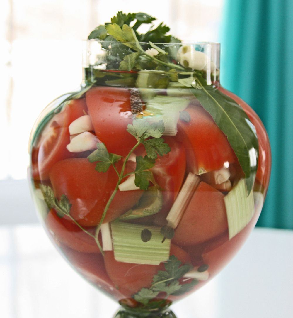 pickeled tomatoes brine