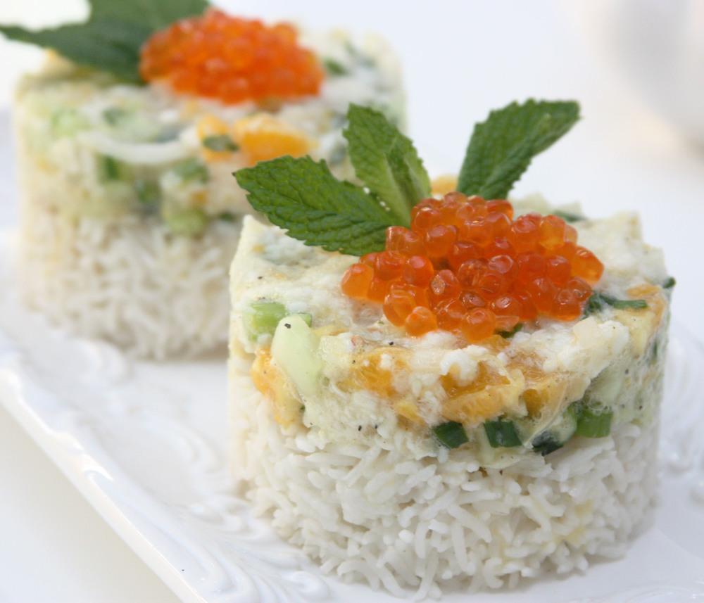ceviche fish caviar rice mint
