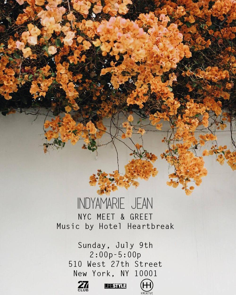 New York City Meet & Greet - July 9th, 2017