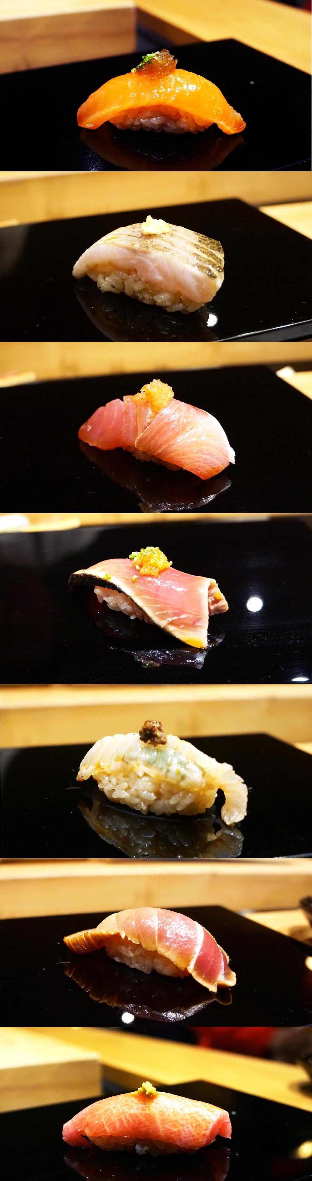 Omakase吃到的各种sushi。