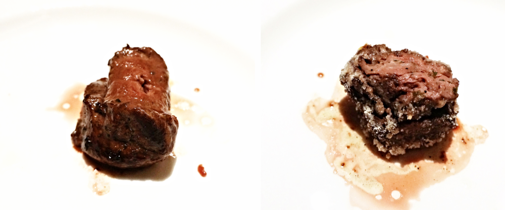 MEDALHÃO COM ALHO: tenderloin filet seasoned with garlic and herbs (left); MEDALHÃO COM QUEIJO: tenderloin filet with parmesan 也就是filet mignon。说实话都是好吃的肉,可惜吃了tri tip之后就会忽略这个。