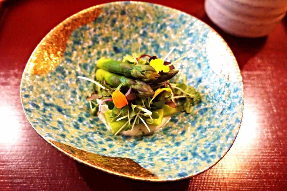 Zensai: asparagus with miso 来了美国之后爱上asparagus了,也是各种等级餐厅常见的一道