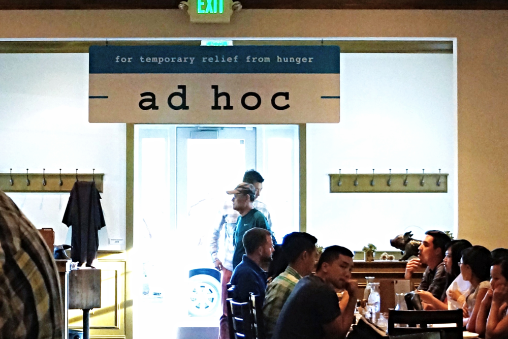 Ad Hoc at Yountville, CA
