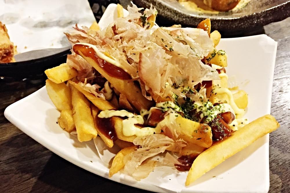 French fried okonomiyaki style $5.8 这个已经上了must-order list 大阪烧口味的薯条想想都好吃 而且薯条的粗细太关键,幸好orenchi的粗细比较适中,吃起来有口感