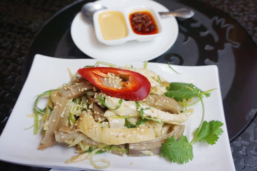 Wasabi Chicken Strips 芥末猪肚捞鸡 :我第一次吃这道菜,芥末的口味很重,和鸡肉猪肚真是清爽的搭配