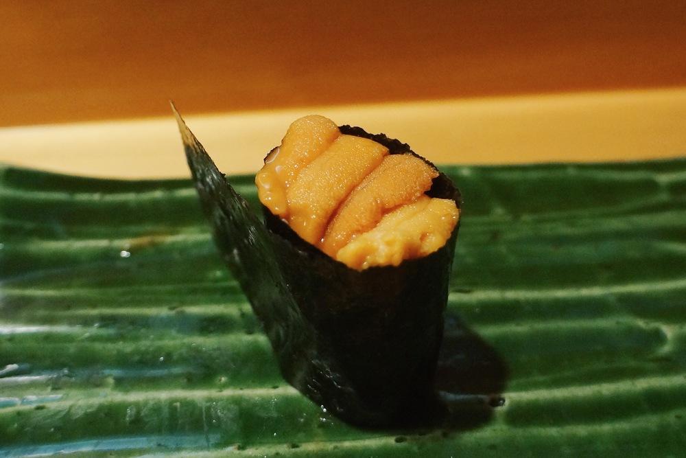 Uni (Hokkaido, Sea Urchin) $8/pc 海胆我不得不说,是好的海胆,但是还是Kusakabe的最棒