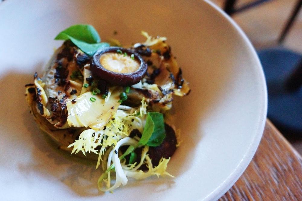 Grilled Artichoke & Shiitake Mushroom, Taggiasca & Castelvetrano Olive, $12 很简单的一道菜,食料很新鲜,做的很精致