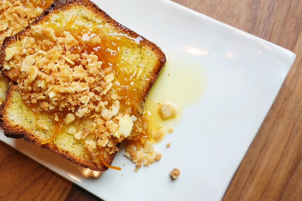 Lemon Puppy Pound Cake, Citrus Marmalade, Brown Butter-Almond Crumble - $13