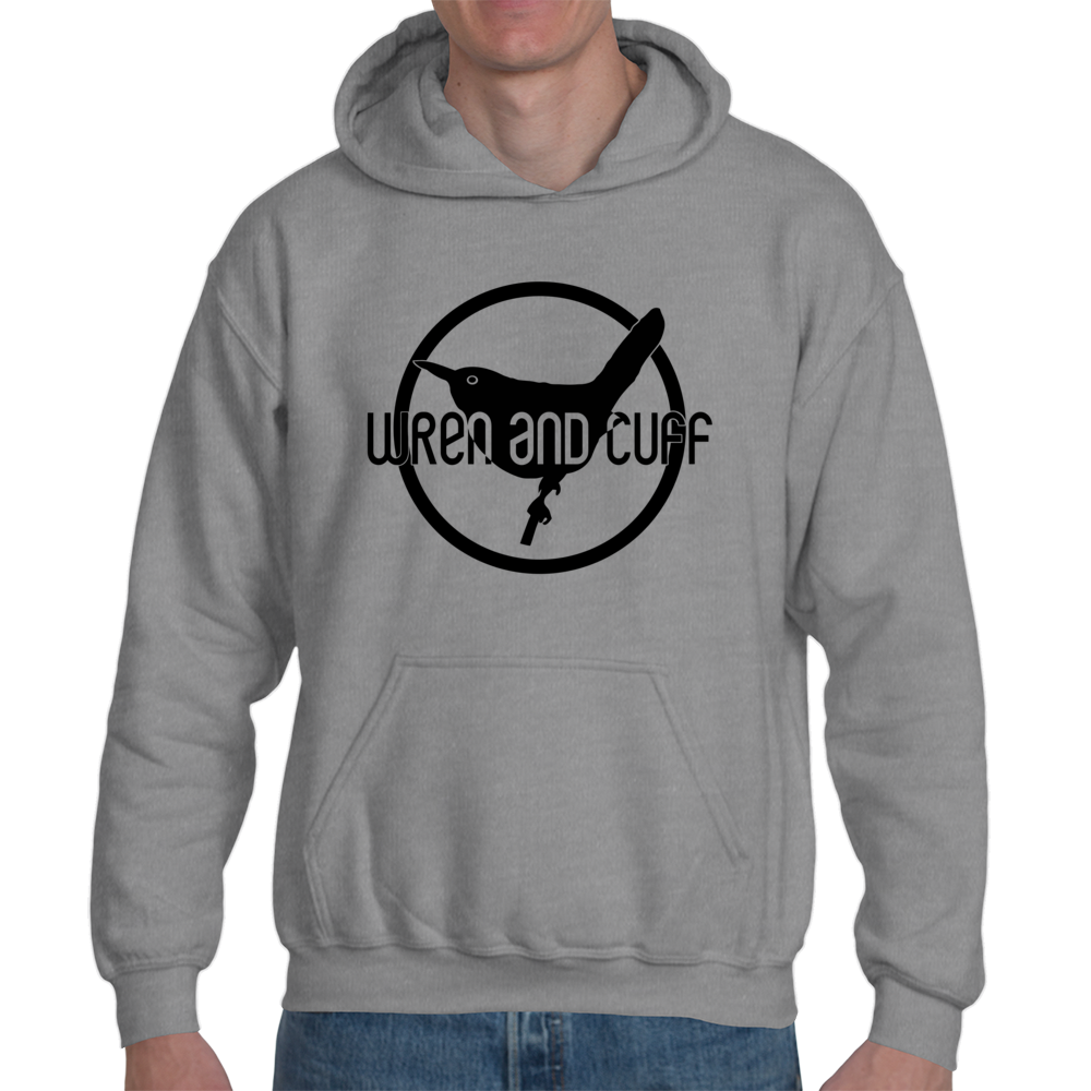 Men's Logo Gray Hoodie, Gray $29.99
