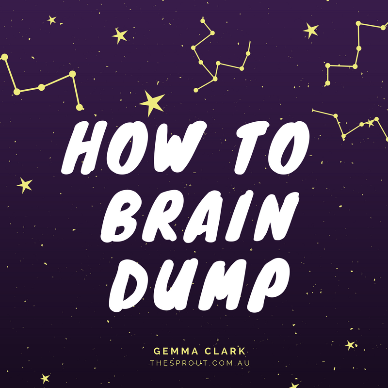 graphic about Brain Dump Template called Absolutely free PDF: Thoughts dumping for much better slumber (How towards + Template