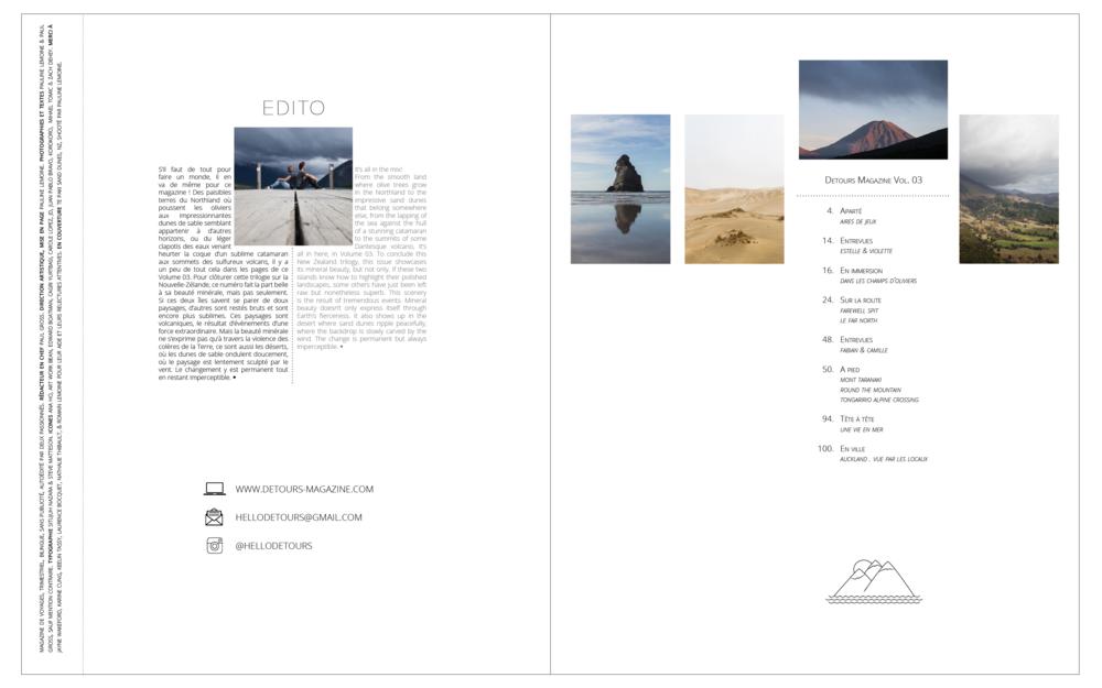 Detours Magazine . Volume 03 edito.png