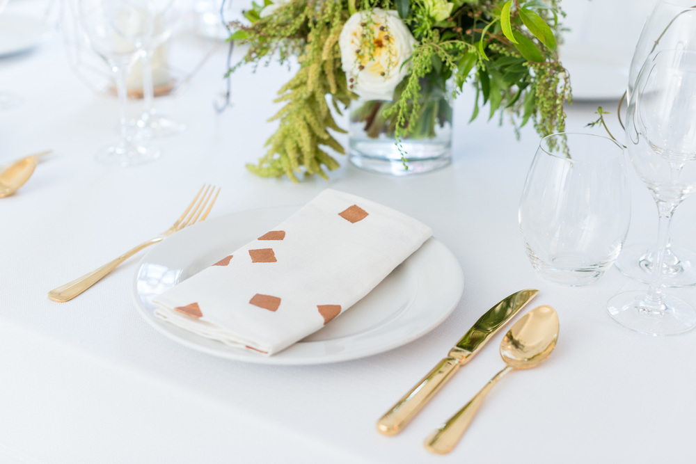 Image: You can't go wrong with these gorgeous confetti hand painted napkins.