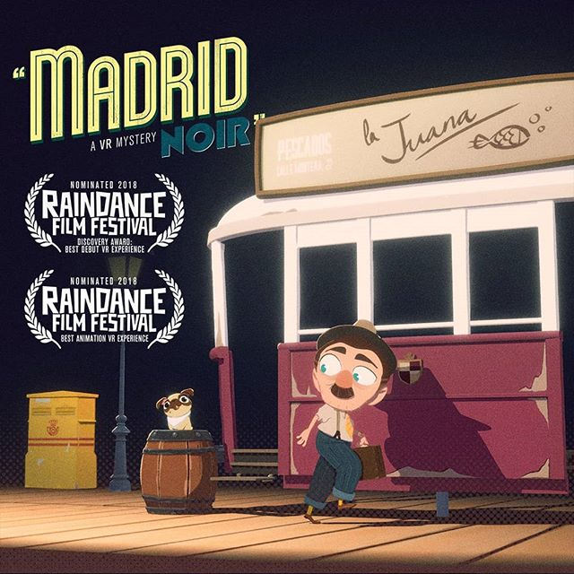 Madrid Noir has been selected for @raindancefilmfestival ! 🥰  We've been nominated the animation and discovery catagories.  Huge thanks to the whole team!  We'll be premiering the film for the first time at the VR showcase- hope to see some of you folks down there.  #blessed #raindance #vr #virtualreality