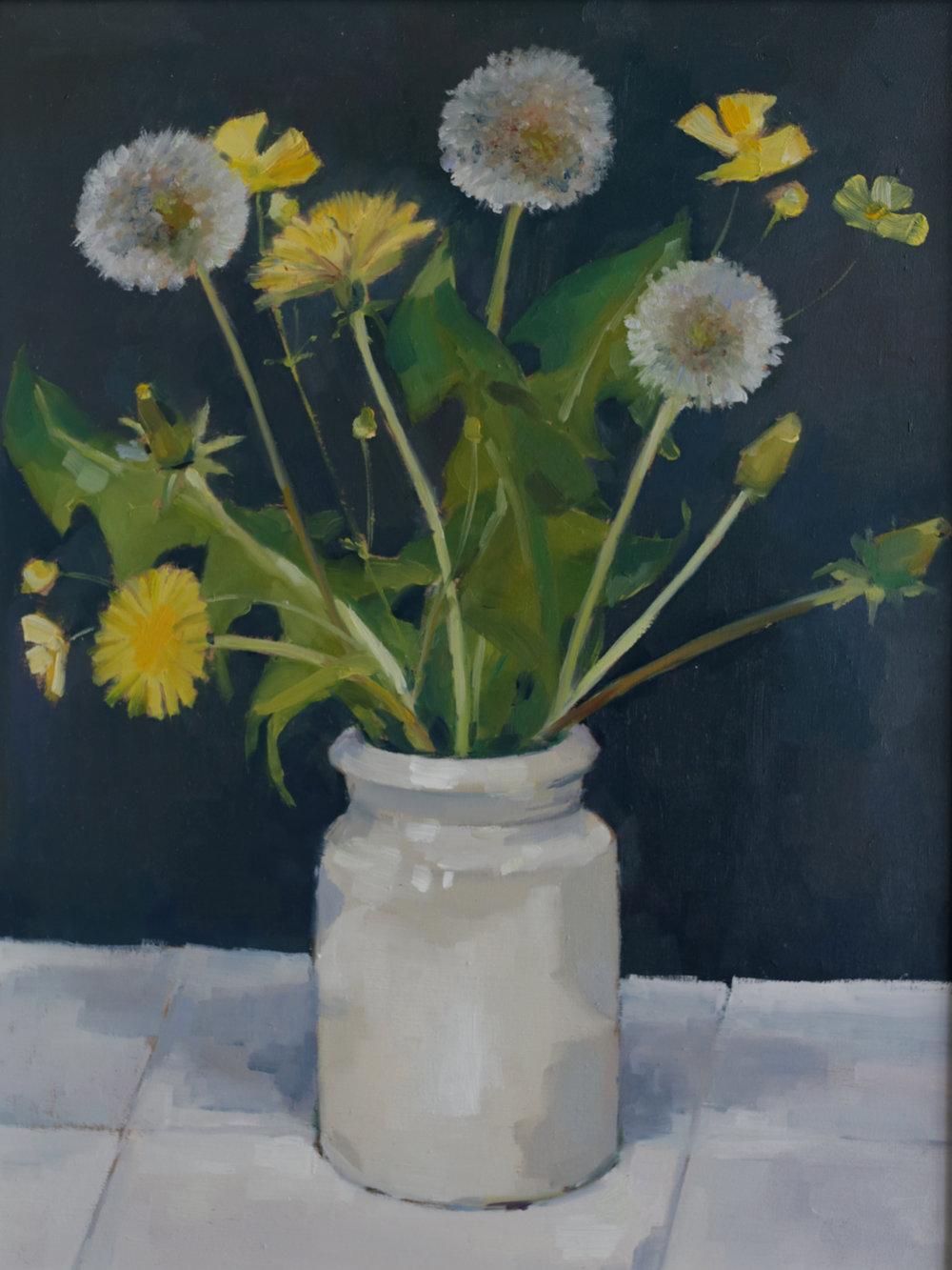 Dandelions in a Pot