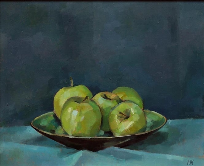 Green Apples in Dish