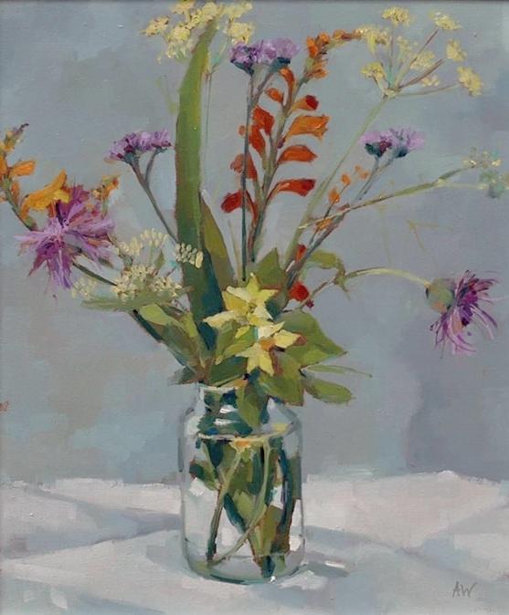 Garden Flowers in Jam Jar